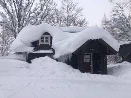 Snow laden Niseko. Photo: Bec Tonks