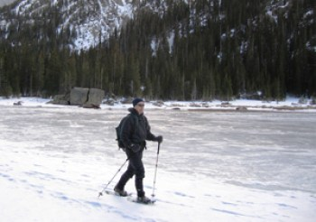 snowshoeing in Rocky Mountain National Park