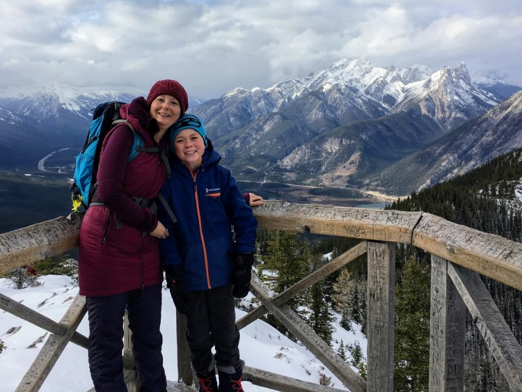 winter hike Sulphur Mountain, Banff