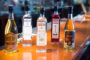 A selection of spirits at Bardenay, the nation's first restaurant-distillery.