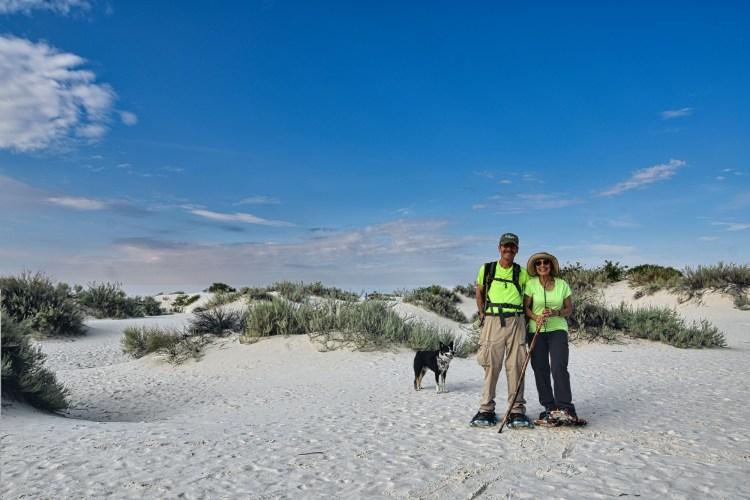 sandshoeing in White Sands National Park