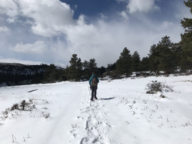 snowshoeing tips: snowshoeing, Elk Creek trail, Colorado