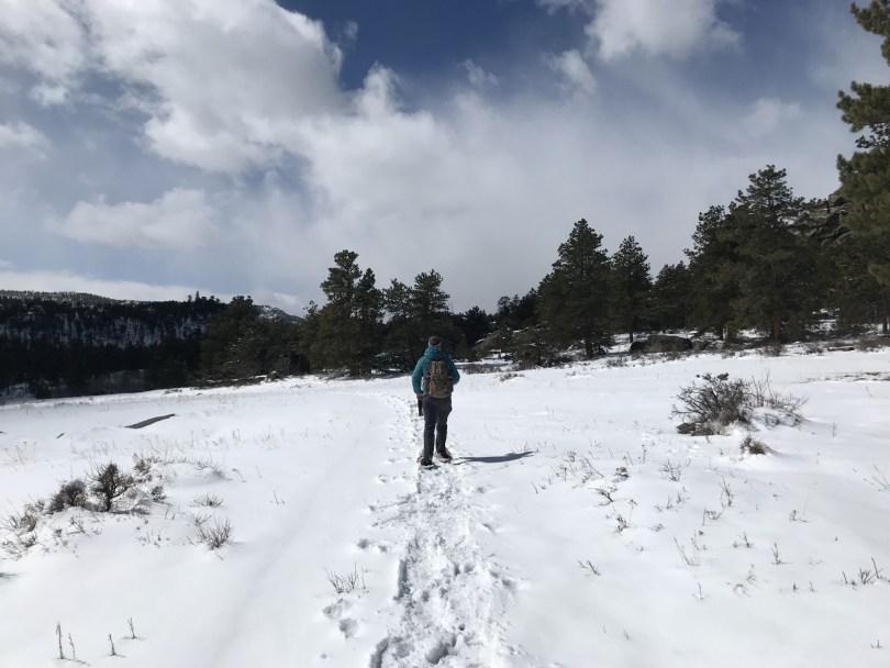 snowshoeing, Elk Creek trail, Colorado
