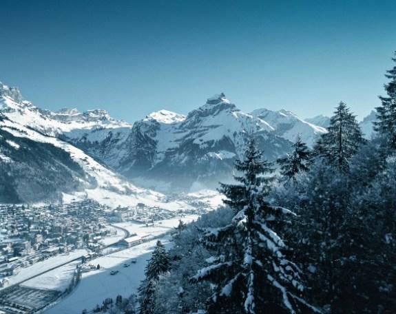 Swiss alpine village