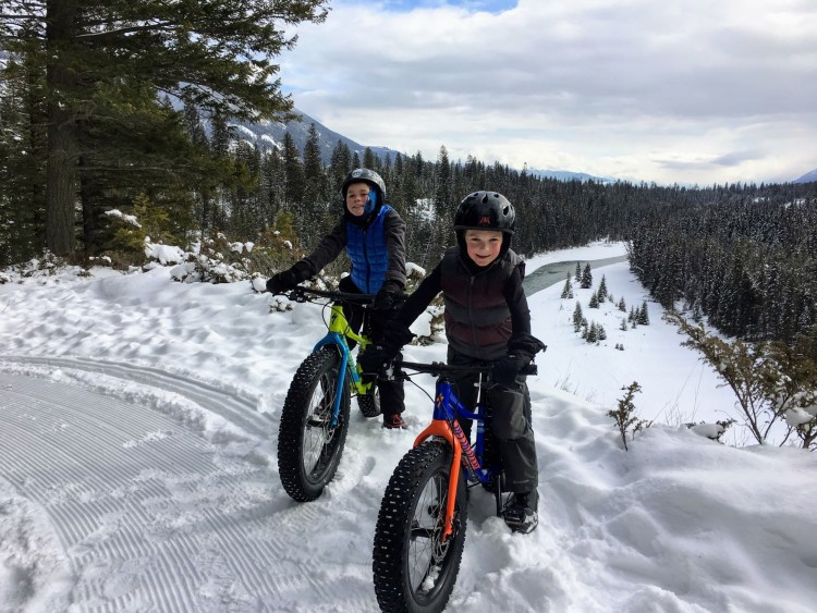 kids on two fat tore bikes