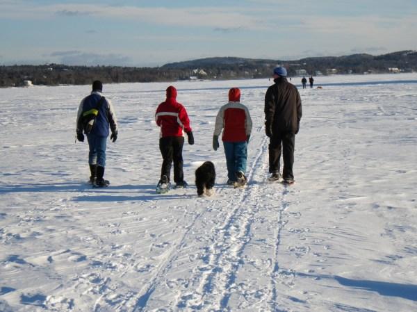 snowshoeing St. John River, NB
