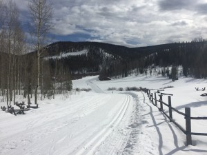 Nordic trails at Snowshoe Mountain Ranch.