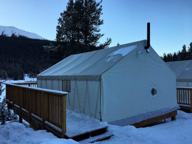 tent at Mt. Engadine Lodge