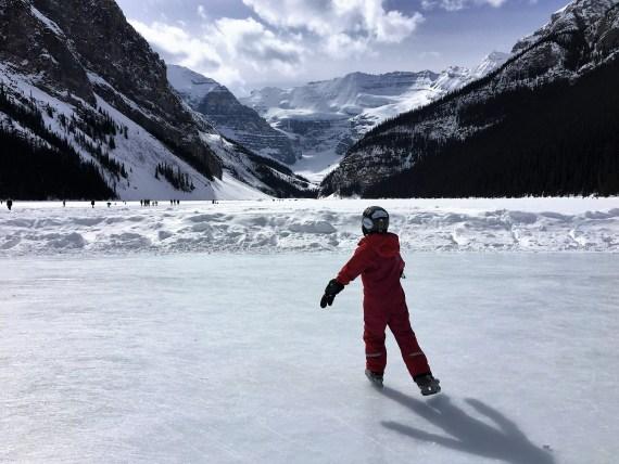 Ice skating at Lake Louise, AB