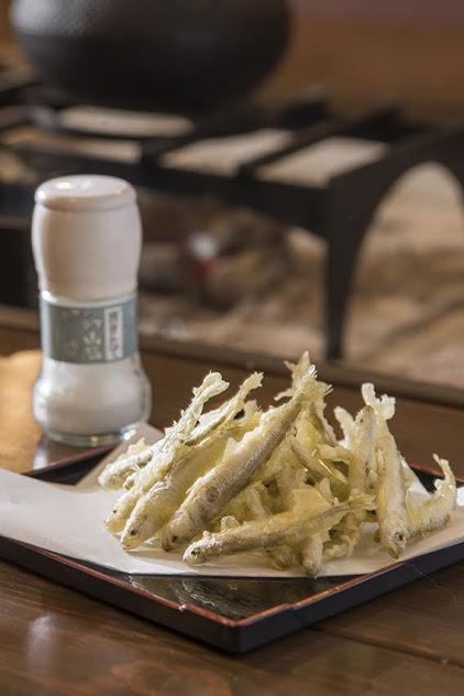 dish featuring Japanese pond smelt tempura