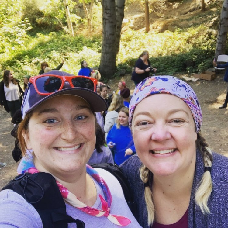 co-founders of WNDRoutdoors at a camp event