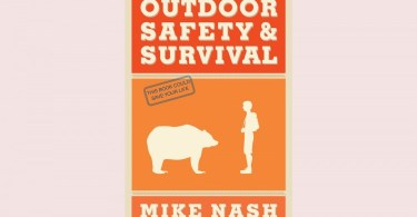outdoor safety and survival book on light background
