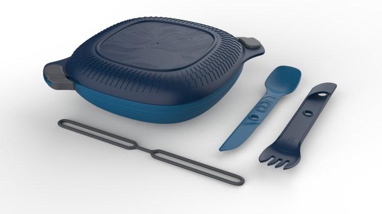exterior retailer equipment: product photo: UCO Eco 5 Piece Mess Kit Blue