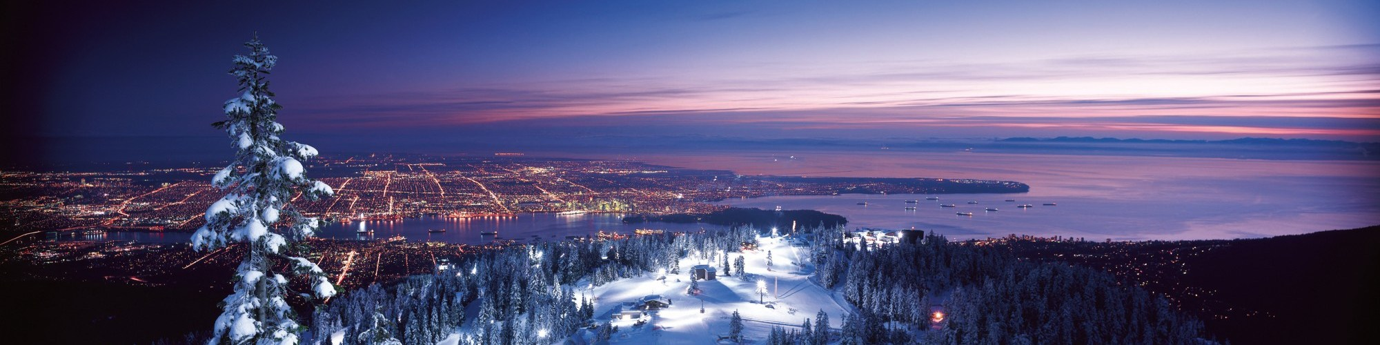 view from Vancouver from Grouse Mountain