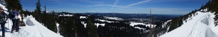 panorama of West Rim Drive, OR