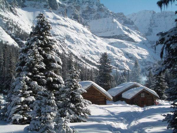 The Elizabeth Parker Hut in winter