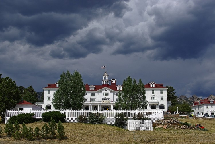 front view of Stanley Hotel in Estes Park
