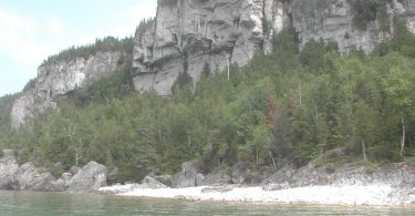 paddling with escarpment scenery in Lions Head on Bruce Peninsula