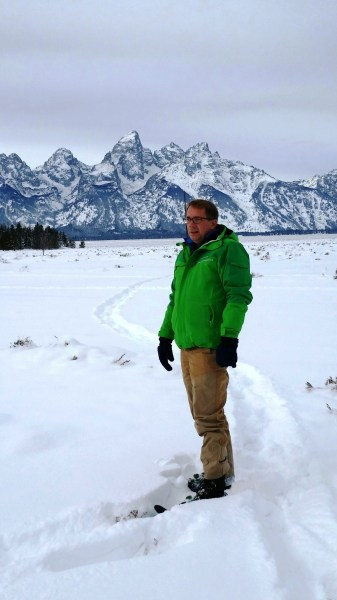 Out in the Tetons with the original field pants by Mountain Khakis.