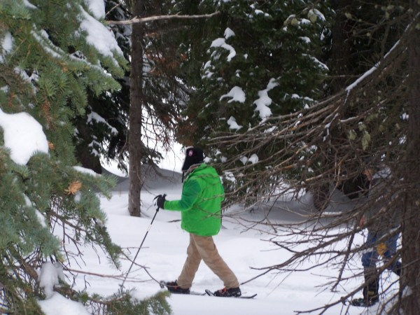 Black Diamond poles help us get out in the wilderness.  (Photo by Nicole Walker.)