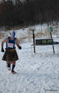 Winteriffic is a Braveheart Snowshoe Series event. Braveheart Jim McDonell, series director, sped along the snow