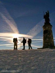6 Jan 2015 - statue of St Bernard, Swiss/Italian border