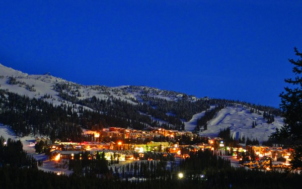 Big White Night Village from Clear Cut