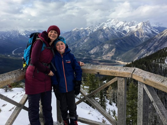 winter hike Sulphur Mountain, Banff