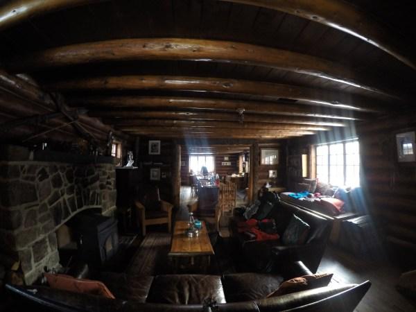 A look at the main floor of Skoki Lodge