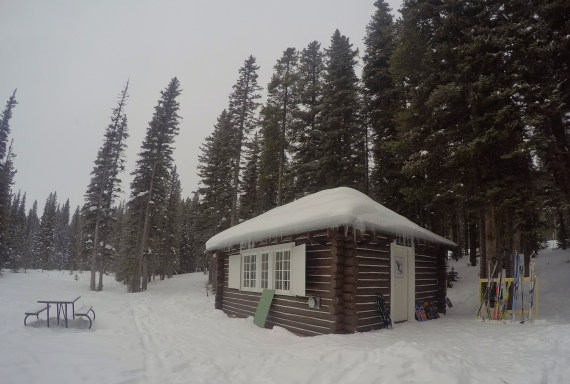 The Cameron Lake Cabin in Waterton Lakes National Park