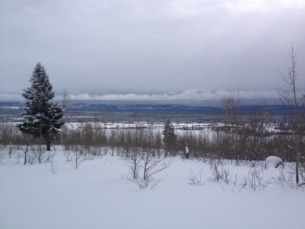 Deep snow and expansive views epitomize Gneiss Creek in Yellowstone National Park.