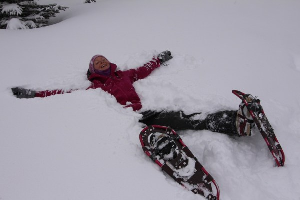 Snowshoeing is far from boring