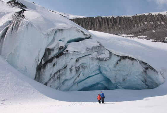 The Ice Cave at the Athabasca Glacier, Jasper National Park