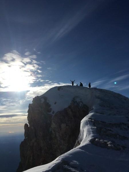 Summiting Mt Hood