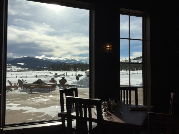 Breakfast view from Heck's Tavern. Photo by Kim Fuller.