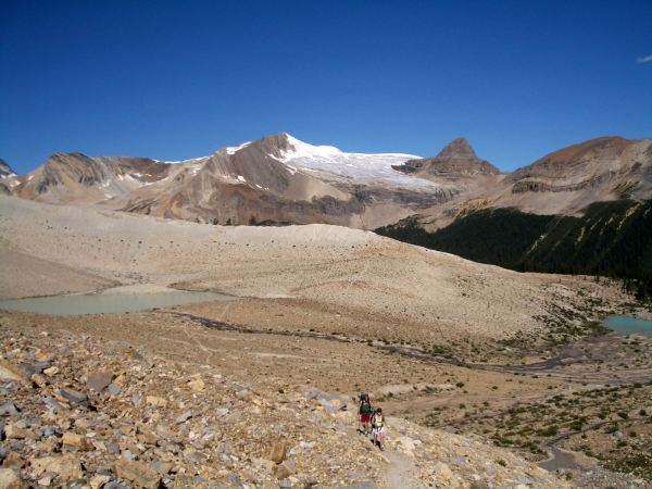 Hiking the Iceline Trail from the Stanley Mitchell Hut