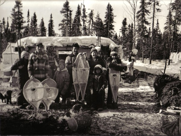 Mistassini Cree family in hunting camp-Winter 1979. Photo courtesy of Henri Vaillancourt