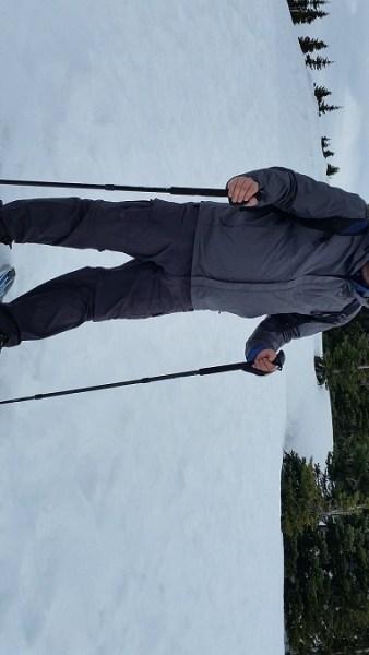 Olympia resident Anthony James snowshoeing Hurricane Ridge