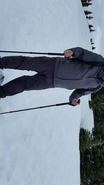 Olympia resident Anthony James snowshoeing Hurricane Ridge