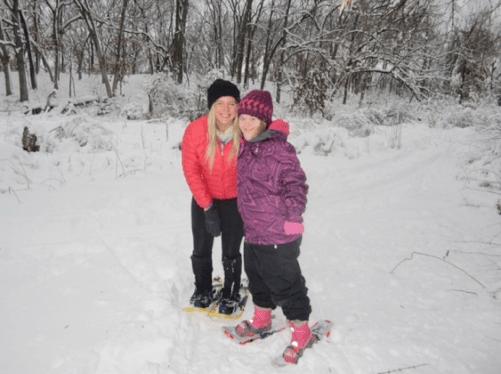 adaptive snowshoeing class