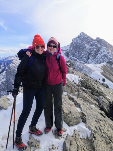 Ha Ling Peak winter hike- Canmore, Alberta