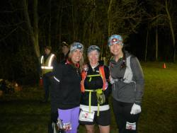Three popular runners take a moment before the 3:00 AM start
