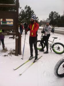 Runners, XC skiers, snow bikes and some snowshoers made up the methods entrants fought to finish their distance