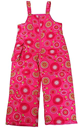 2 T Snow Pants Girls Plum Bibs Winter Oshkosh B'Gosh Waterproof adjustable strap