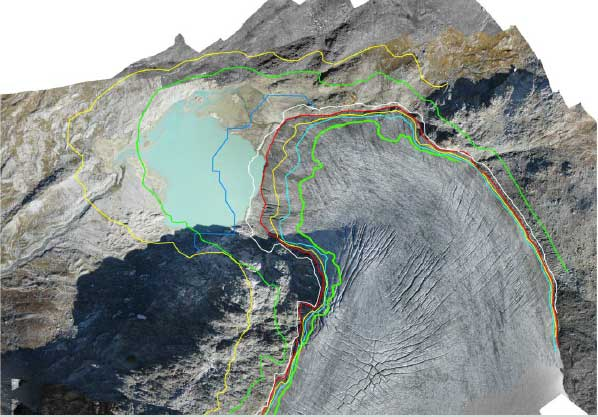 Arretramento annuale della fronte del ghiacciaio di Timorion (gruppo del Gran Paradiso, Valle d'Aosta)