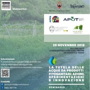 La tutela delle acque da prodotti fitosanitari: azioni, sperimentazioni e innovazione
