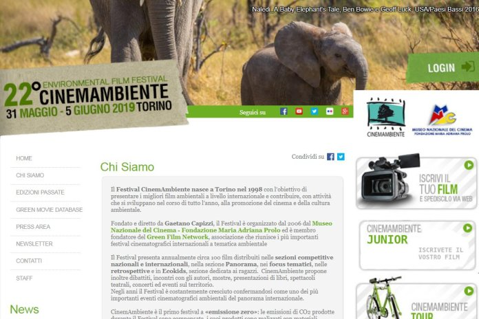 home page cinemambiente