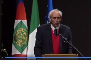 Cerimonia commemorativa dell'alluvione del 2018 in Veneto alla presenza del Presidente della Repubblica