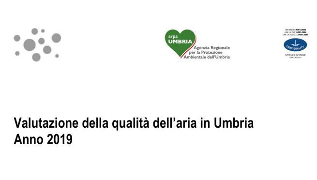 Rapporto qualità dell'aria Umbria
