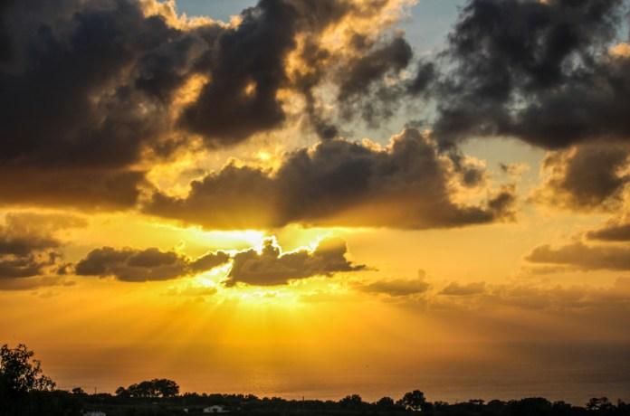 Nubi al tramonto